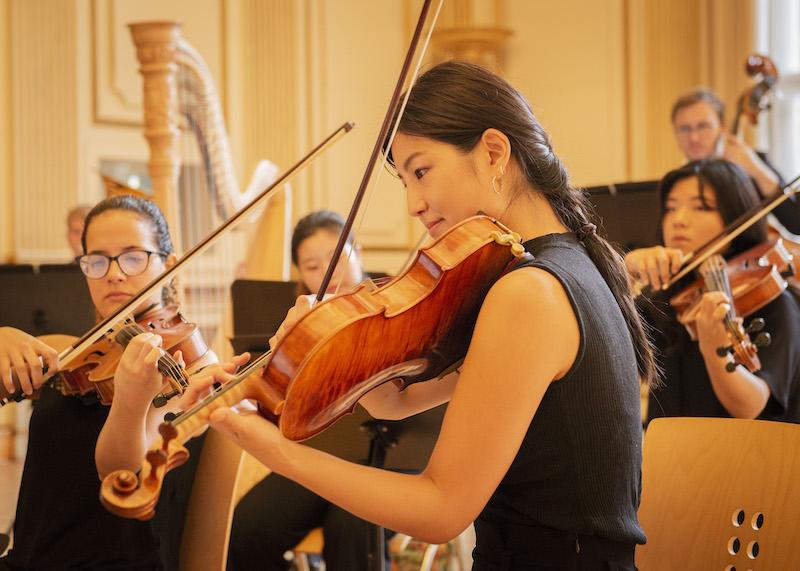 In der Siemens-Villa Berlin gibt das Orchester oft Konzerte